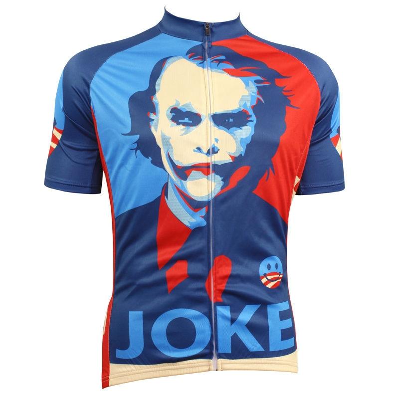 ФОТО Alien SportsWear The Joker Men top Sleeve Cycling Jersey Summer Quick Dry Bike Clothes Full Zipper top bike Size XS-5XL