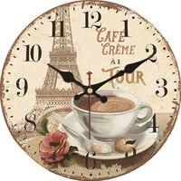 WONZOM винтажные настенные часы башня дизайн Relogio де Parede большой бесшумный для гостиной цветок Saat домашний декор кухонные часы настенные