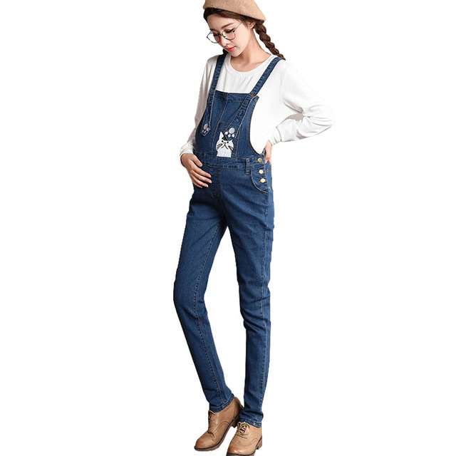 355f5f630f54 Denim Pants Maternity Overalls Straps Jeans For Pregnant Women Braced  Pregnancy Bibs Work Carrying Clothing Suspender Uniforms