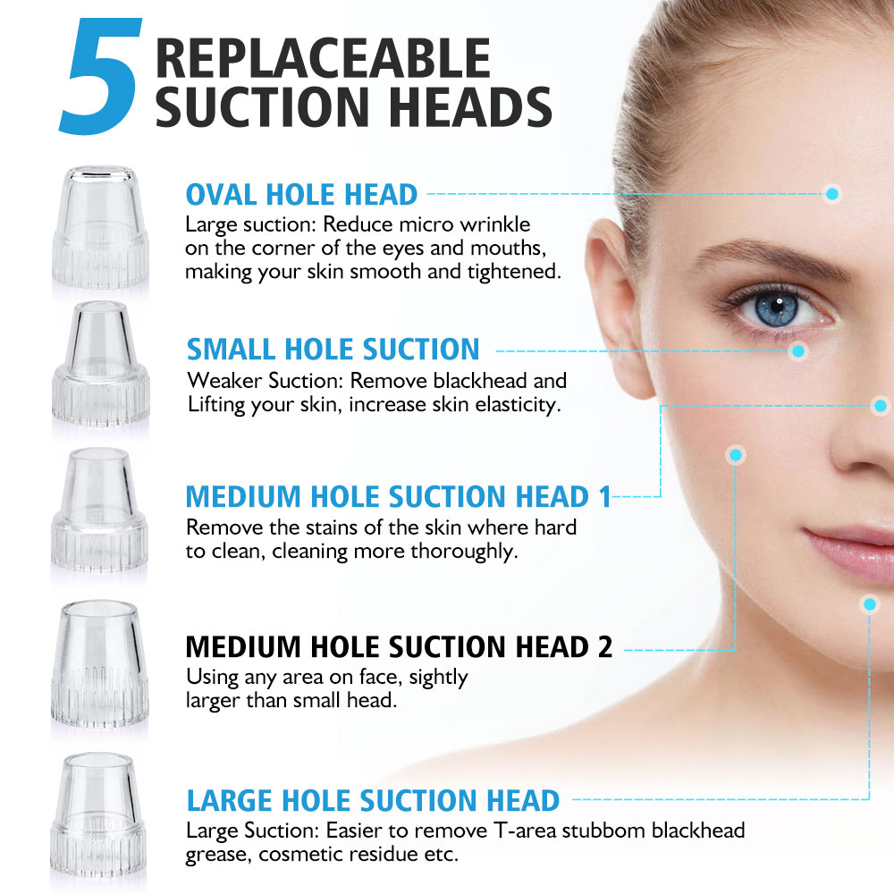 Image 2 - Blackhead Electric Cleanser Removal Face Clean Nose T Zone Pore Vacuum Acne Pimple Vacuum Remover Suction Facial DermabrasionPowered Facial Cleansing Devices   -