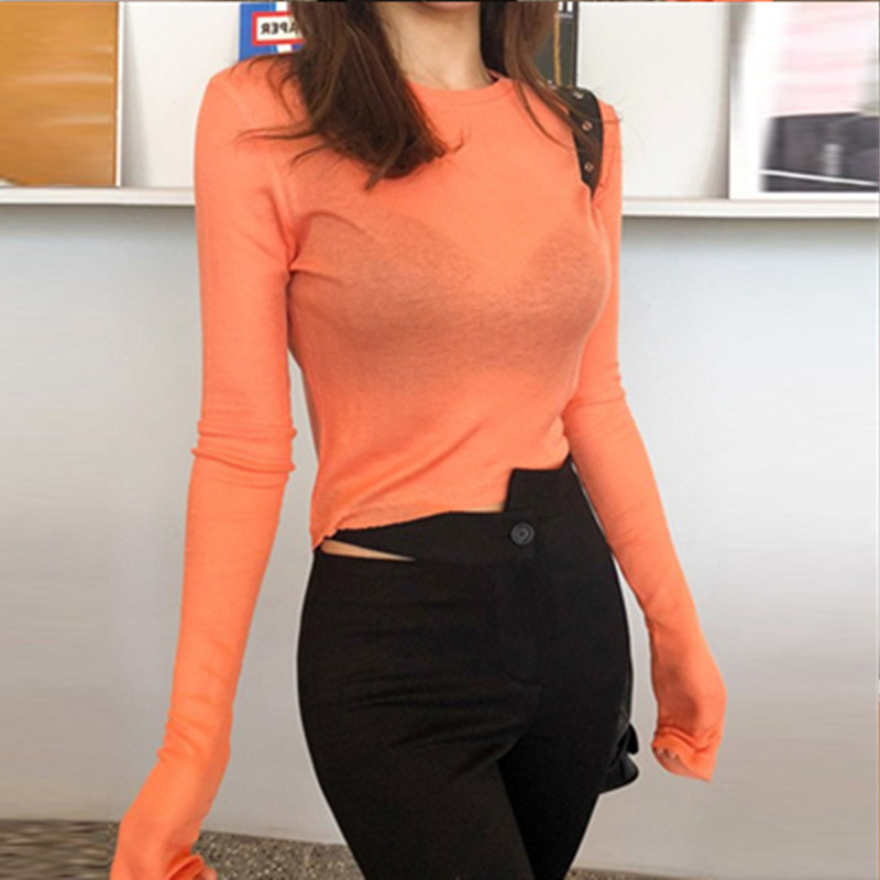Pullover Tee Sexy Fashion Womens Tshirt Skinny Tops Bodycon Cotton Long Sleeve Blouse Girls Autumn T Shirt Blusas Mujer De Moda