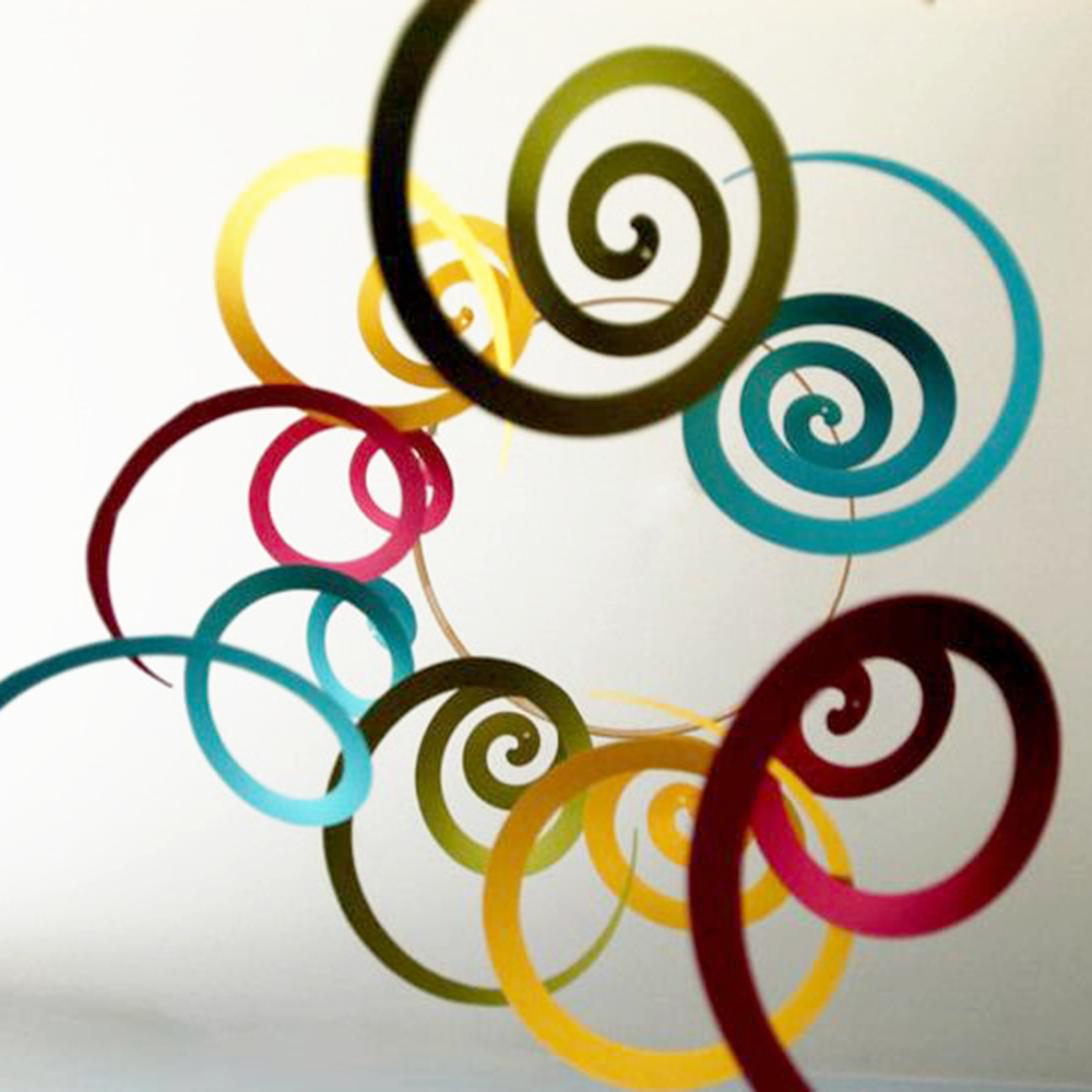 14pcs/pack Ceiling Hanging Swirl Decoration Metall...