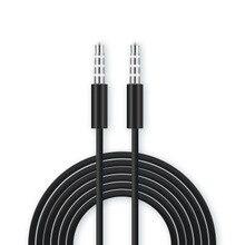 Soonory хорошее качество черный Мода 3,5 мм aux аудио кабель для компьютеров автомобили телефоны и колонки два круглых головки