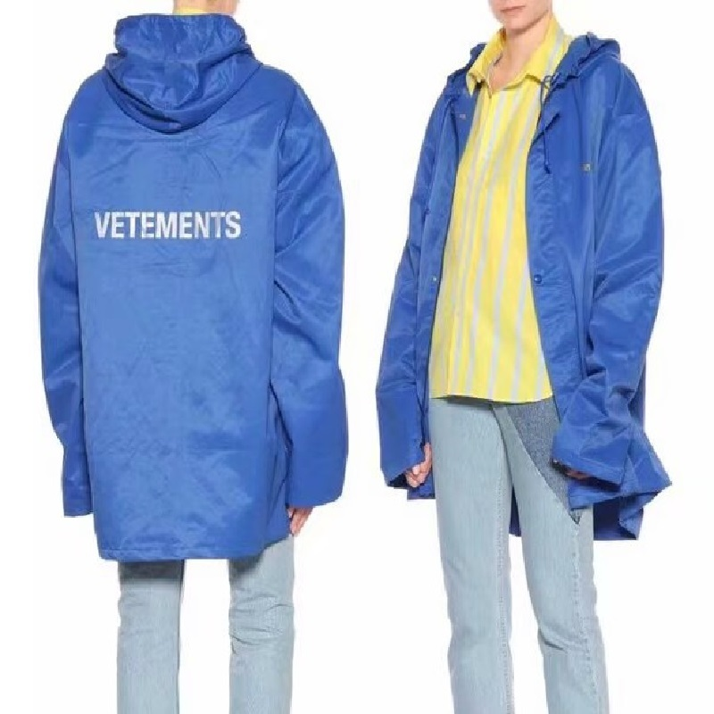 Newest Vetements Jackets Men Women Oversized Raincoat Streetwear Clothes Coats Waterproof Windbreaker Vetements Bomber Jacket