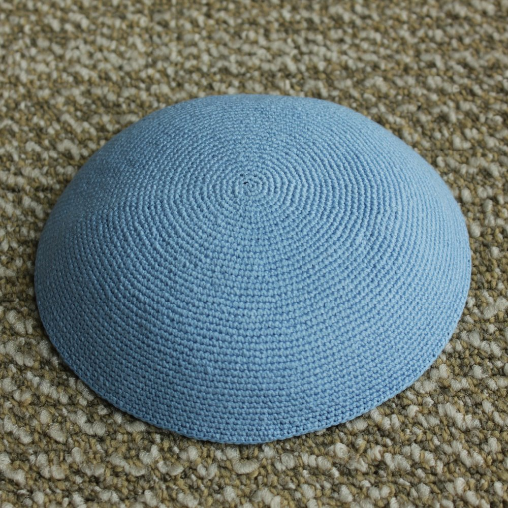 Old Fashioned Knitted Kippah Pattern Elaboration - Blanket Knitting ...