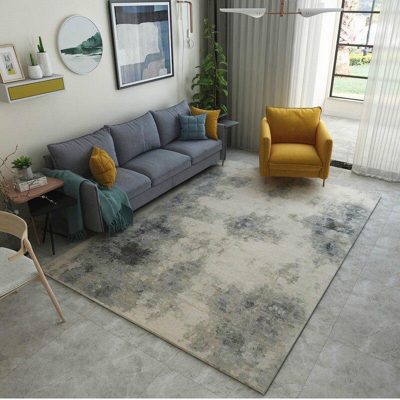 Post-moderne Art tapis décor à la maison chambre tapis canapé Table basse tapis de sol tapis d'étude douce Rectangle tapis nordiques tapis de chevet - 2