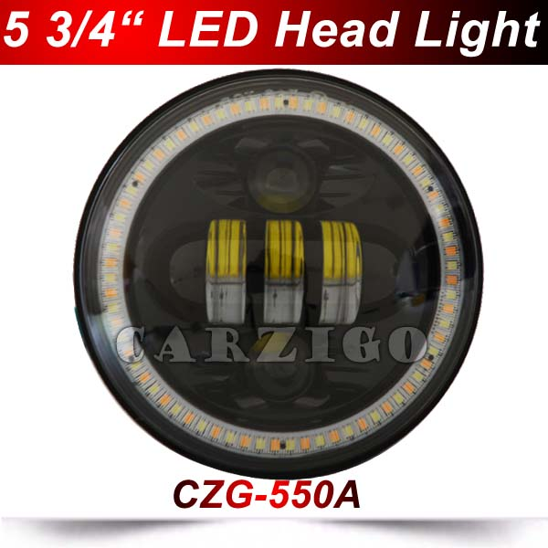 CZG550A 5.75 5-3/4 inch Moto Accessories Led Headlight Hi/Low beam 5.75 Inch Round led Headlamp for Harley Davidson motorcycles