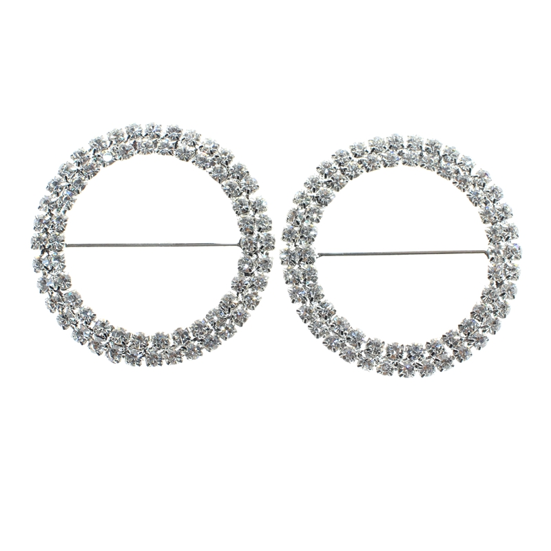 Gentle Rhinestone Buckles For Chair Back 20pcs/lot Garment/belts/wedding Ornament Accessories Sale Overall Discount 50-70% 35mm Inner Bar Round Shape Buckle