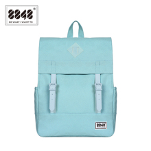 8848 Fashion Womens Backpacks Teenager Backpack Female School Bags Blue Canvas Shoulder Bag Travel mochila 173-002-007