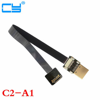 10cm/20cm/30cm/50cm/100cm 90 Degree Angled FPV HDMI FPC Flat Cable for Multicopter Aerial Photography 10cm 30cm50cm 90 degree up angled micro hdmi to micro hdmi fpv cable fpc flat cable fpv for gopro multicopter aerial photography