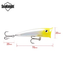 SeaKnight SK004 Topwater Popper 1PC Fishing Lure 11g 70mm Hard Bait Floating Lure Fishing Baits Wobblers Long Casting Fishing