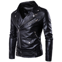 Punk Style Brand Slim Fit Men's Leather Jackets and Coats Punk Style Hip Hop Stage Wear 5XL Leather Blazer Coats For Men C1115