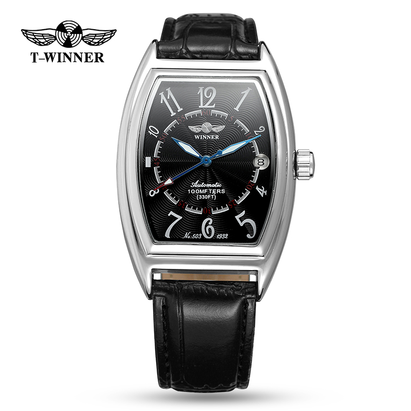 Winner Watch Fashion Rectangle Black Watch Mens Skeleton Clock Top Brand Luxury relogio masculino Unique Blue Hands DesignWinner Watch Fashion Rectangle Black Watch Mens Skeleton Clock Top Brand Luxury relogio masculino Unique Blue Hands Design