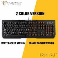 Gaming Mechanical Keyboard waterproof 104 keys Anti ghosting Optical switch LED Backlit Wired Keyboard USB For Gamer PC Laptop