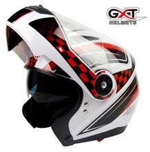 Gxt Для мужчин Для женщин флип мотоциклетный шлем полной Уход за кожей лица Двухместный объектив гонки Шлемы Capacete мотокроссу шлем