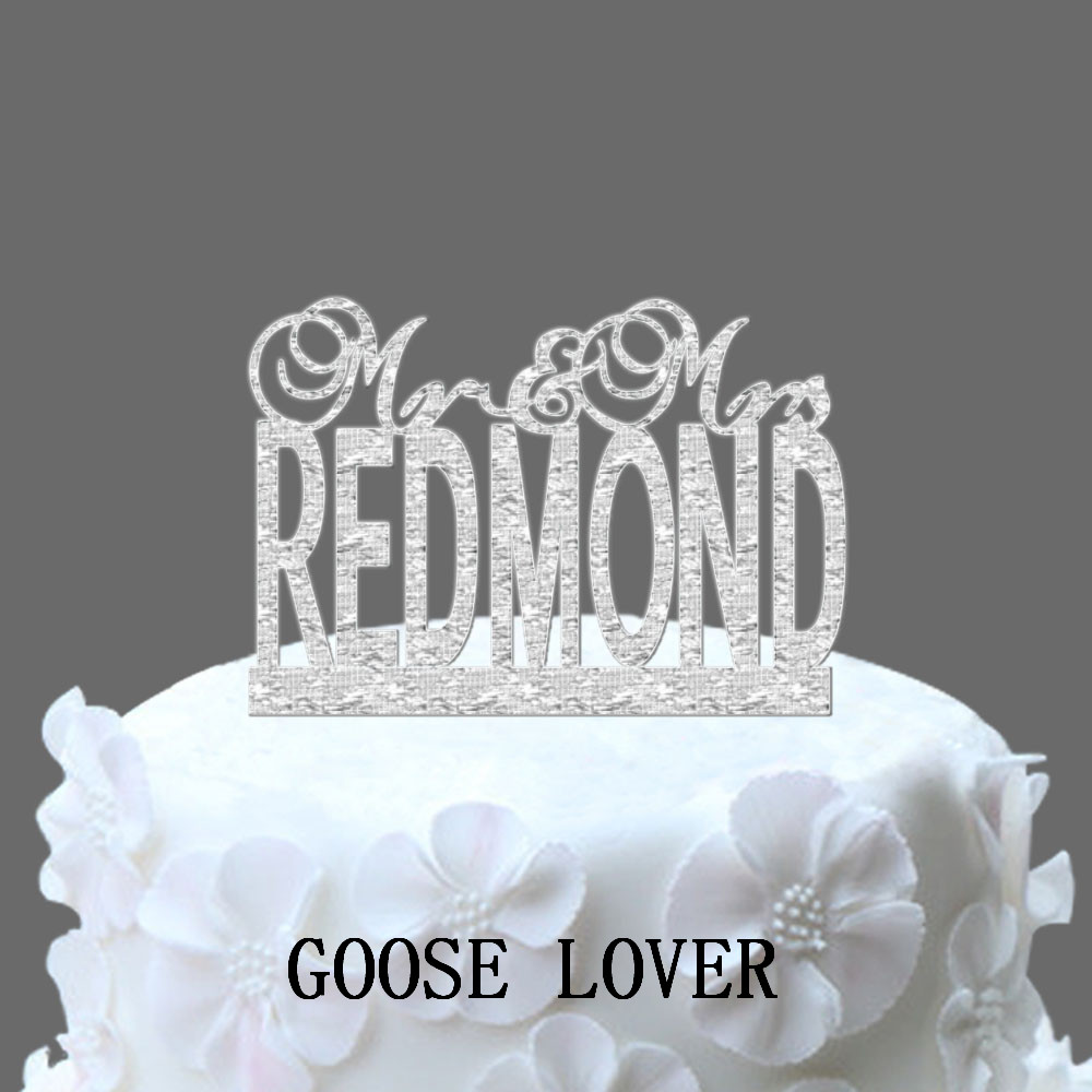 Just married wedding cake topper mr and mrs personalised name just married wedding cake topper mr and mrs personalised name funny cake topper elegant monogram unique topper junglespirit