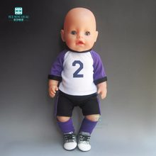 Baby Born Doll Clothes football clothes Sportswear fit 43cm Baby Born Zapf doll Accessories Boy clothes 15 styles(China)