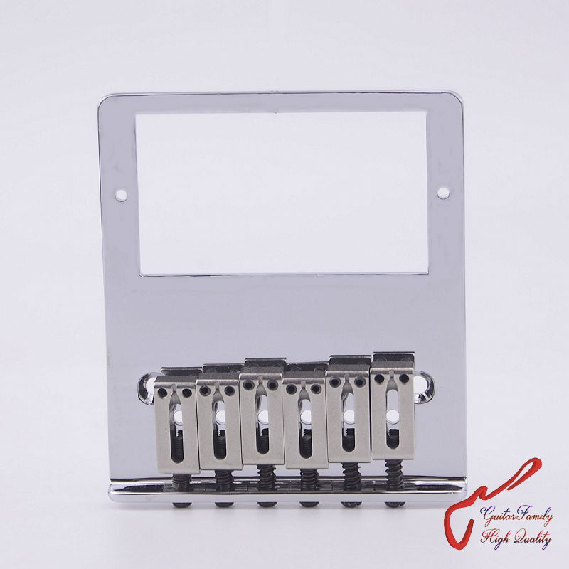 GuitarFamily Super Quality Humbucker Pickup Fixed Electric Guitar Bridge Stainless Saddle Brass Plate Chrome MADE IN