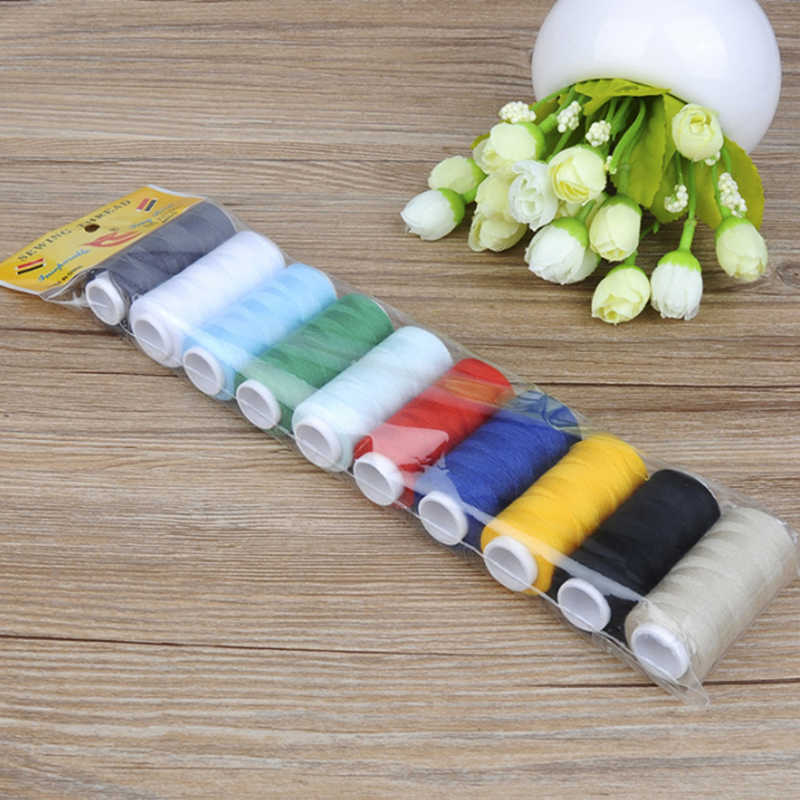 10pcs/pack Sewing Thread Machine Embroidery Thread 200 Yards Spool Home Supplies