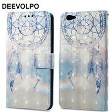 DEEVOLPO Case For Fundas OPPO R9S R11 A57 A59 VIVO X20 Plus Y66 Y67 X7 Wallet Cover Flip Leather Ghost Skull Coque D03G