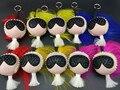 La moda de Nueva Bolsa Monster muñeca Bug keychain del coche de Cuero Superior Pompones de piel bolso encanto Punkarlito bolso colgante de encanto de la Felpa juguetes