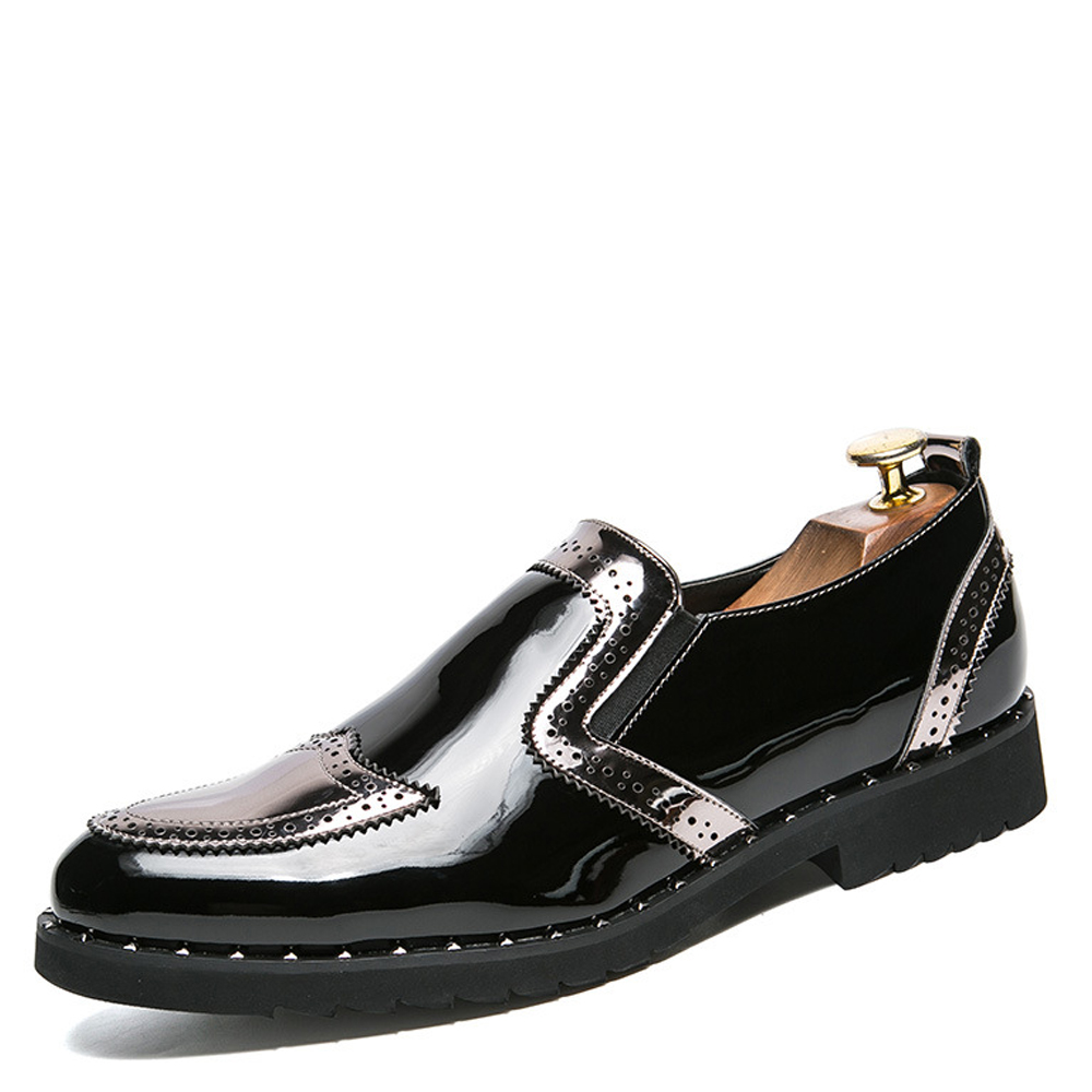 Glissement Sport up 01 Chaussures 02 En 01 Black Plat Haute Les Oxford Qffaz Mariage De Gold Black Silver Gold Luxe Neuf Sur 02 01 Qualité Marque Hommes Dentelle Robe Silver Cuir Verni 02 4xPqTwY