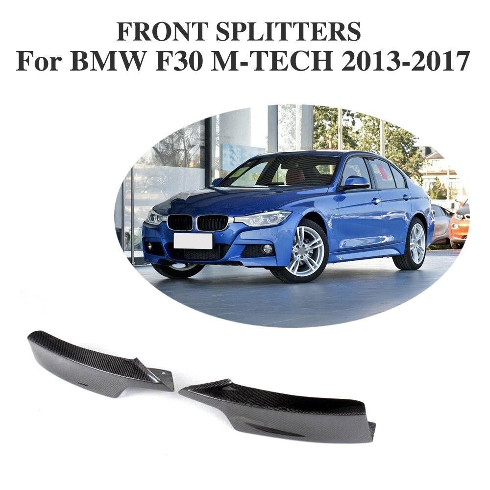 On Sale F30 Carbon Fiber Front Bumper Splitter Apron Flaps