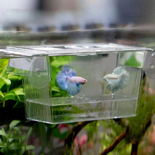 Aquarium Transparent Double Bowl Fighting Fish Mini House Incubator Box For Fry Isolation Hatchery Reptile Cage Turtle House(China)