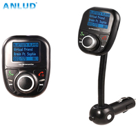 Universal Wireless Car MP3 Audio Player Bluetooth FM Transmitter With Remote Control HandsFree LCD Screen USB