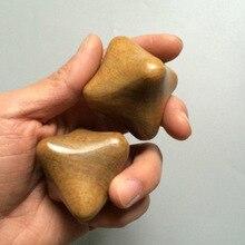 Droppshiping 2 шт. шестиугольная деревянная Массажер для рук снятие стресса для тела Eldely Рефлексология Массажер для акупунктуры MFJ99
