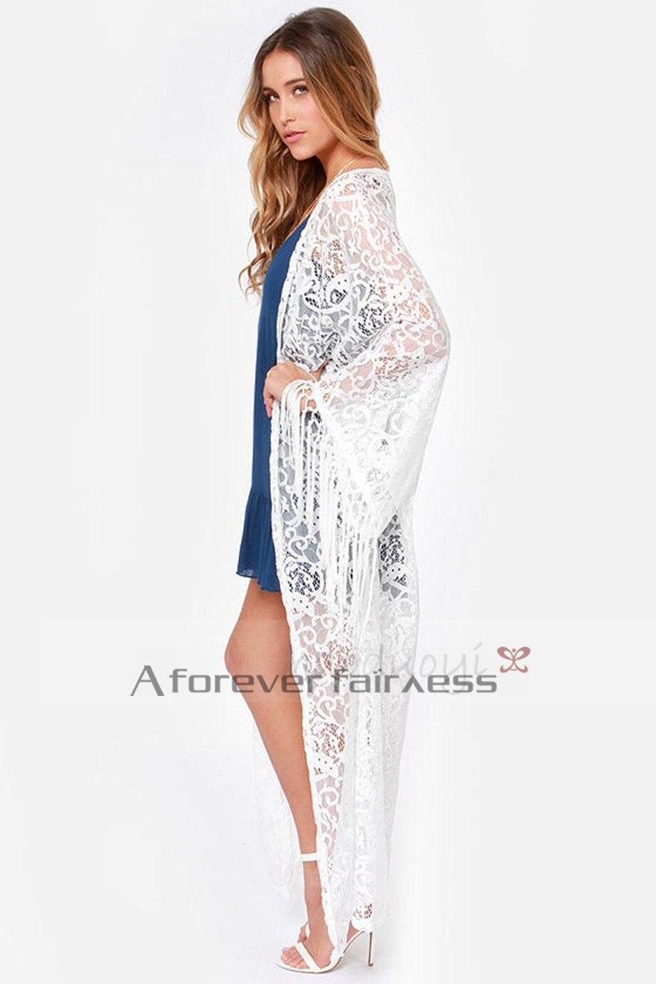 Women Maxi Kimono Long Sleeve Blusas Embroidered Shirt Bud Silk ...