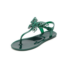 Women Sandals 2019 New 3D Batterfly Flats Sandals Women Summer Shoes Bohemian Sandals Flip Flops Beach Shoes Women's Slipper new summer leisure leaf women flip flops shoes flame beach ladies flats sandals silver red black