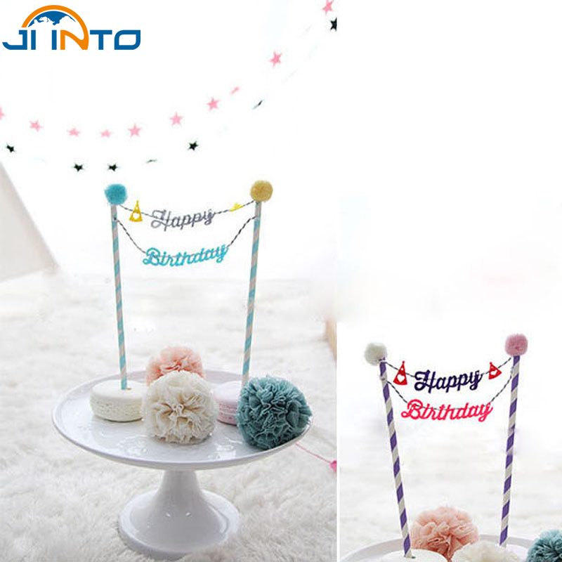 birthday decorations kids party supplies cake decoration fitting baking accessories flags hairball paragraphchina - Wholesale Cake Decorating Supplies