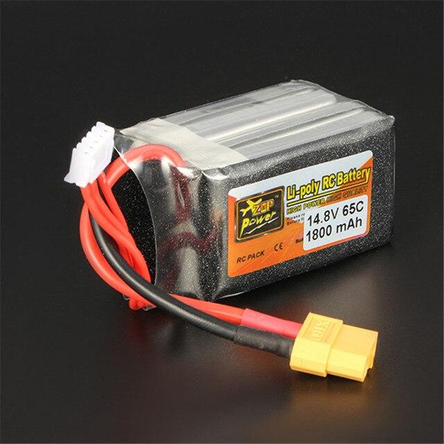 High Quality Rechargeable Lipo Battery ZOP Power 14.8V 1800mAh 65C 4S Lipo Battery XT60 Plug For RC Model