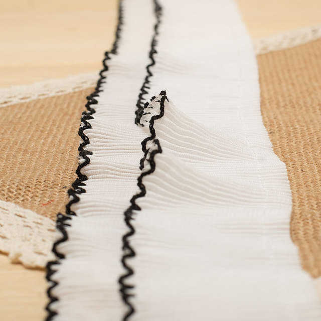 quality is 6.5 cm ruffle of lace Pleated skirt edge DIY clothing material Hot sale