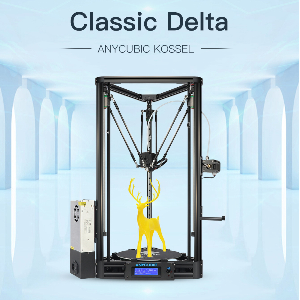 Image 2 - ANYCUBIC Kossel 3d Printer impressora 3D Auto Leveling Module Linear Guide Automatic Leveling Platform 3D Printer Stampante 3D-in 3D Printers from Computer & Office