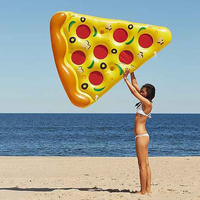 180cm Swimming Pool Float Inflatable Pizza Giant Summer Water Toys Pool Inflatable Toys Outdoor Kickboard Beach Mattress Lounger