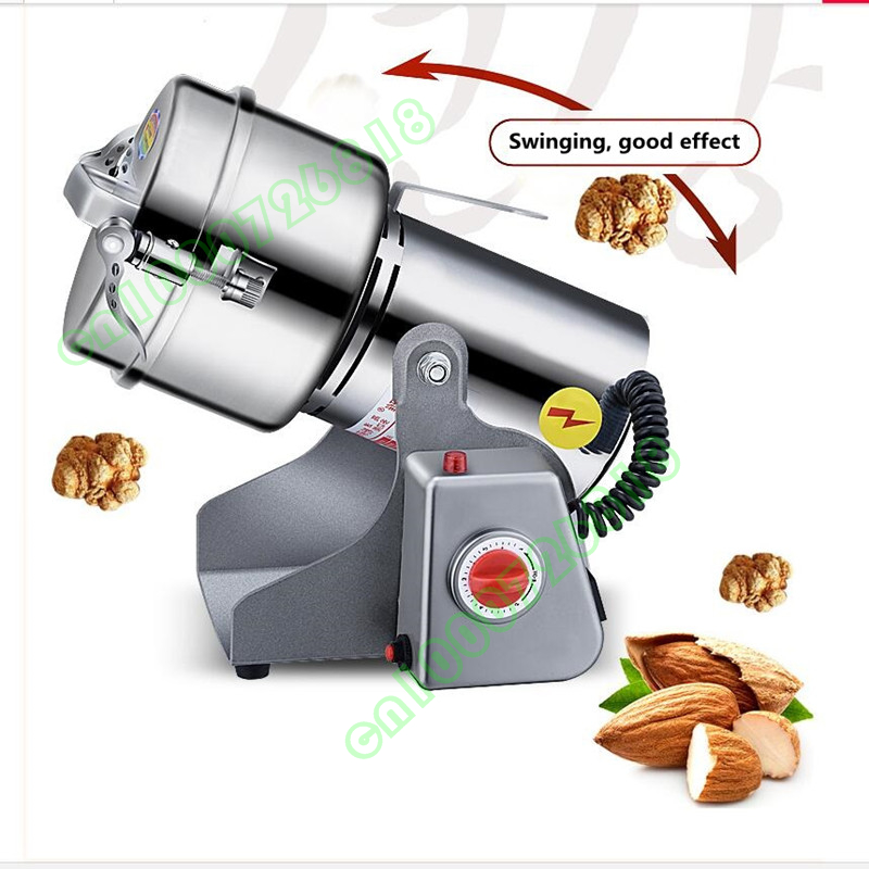 800g Grains Spices Herb Cereals 220V Coffee Dry Mill Grinding Machine Gristmill Herb Medicine Powder Crusher Grinder