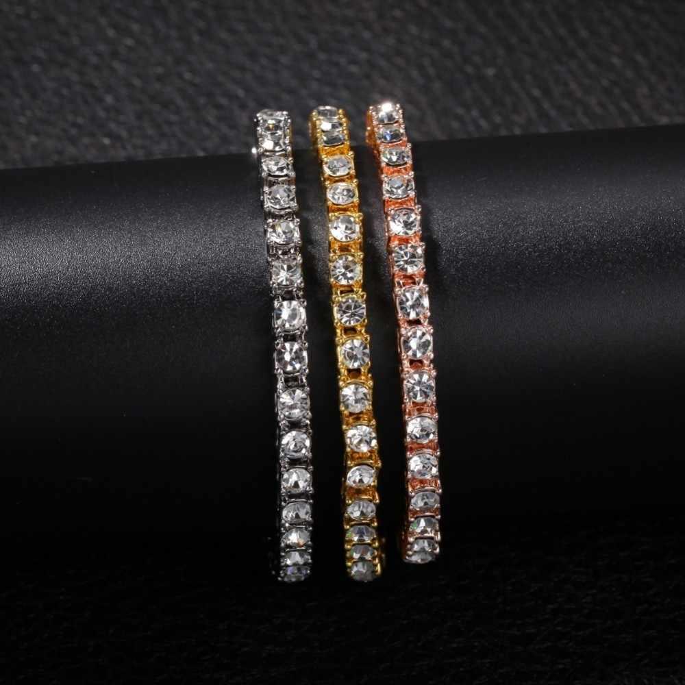 UWIN 5MM łańcuch tenisowy dżetów naszyjnik bransoletka i zestaw NE + BA 1 wiersz Bling Bling Iced Out luksusowe moda biżuteria