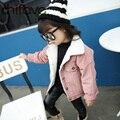 Chifave Nuevo Invierno Cálido Abrigo De Lana de Cordero Traje para Los Niños girls Turn-down Collar Solo Pecho Prendas de abrigo de Bebé Chaqueta de Las Muchachas 2 colores