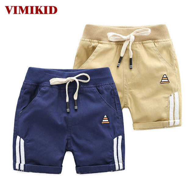 6afc32194 1st 2018 New Summer Children's Clothing Baby Boys Casual Beach Shorts  Cotton Embroidered Striped Casual Shorts