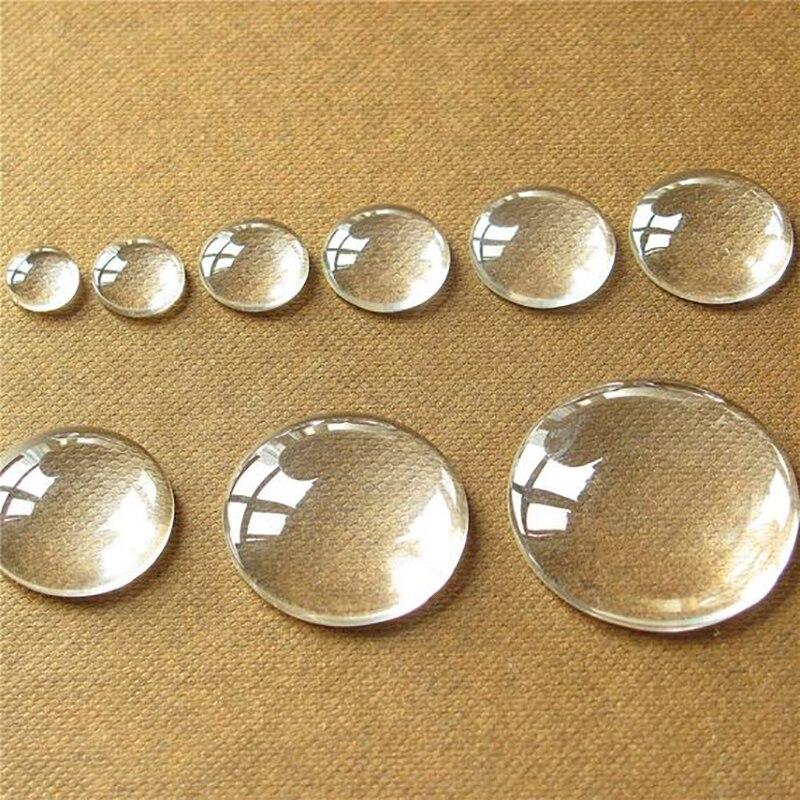 Cúpula transparente de cabochons redondos de vidro transparente de 10 pces para a jóia que faz as descobertas de diy 8mm 10mm 12mm 14mm 16mm 18mm 20mm 25mm 30mm