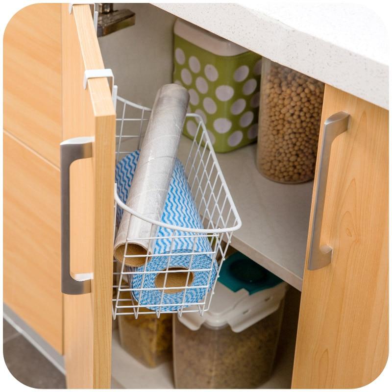 High quality kitchen cabinet door back hanging storage basket ...