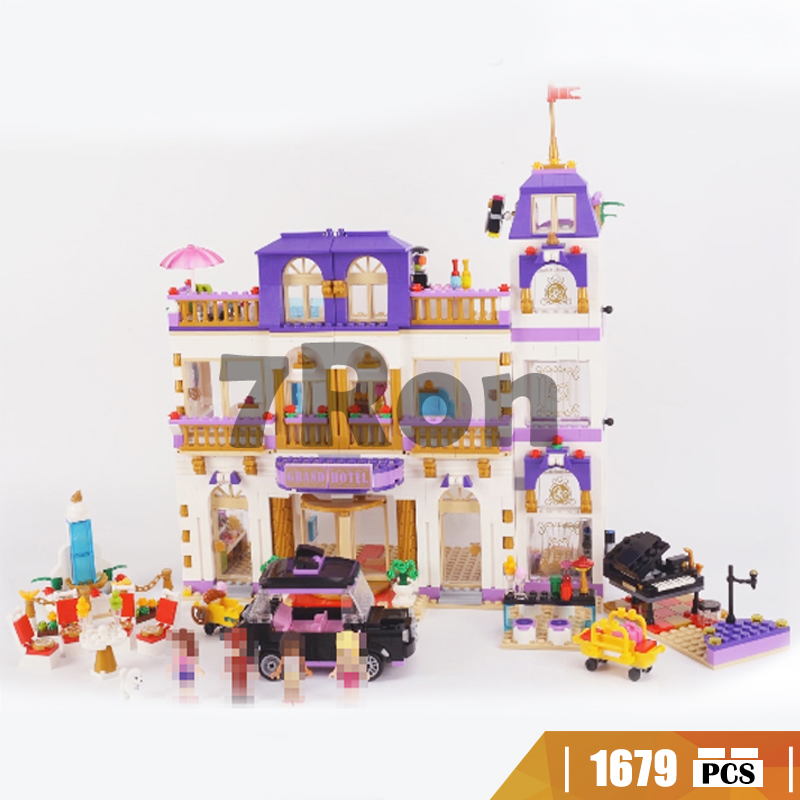 1587Pcs Heartlake Grand Hotel Model Building Blocks Bricks 01045 toys hobbies for girl Gift compatible with lego friends 41101 1585pcs friends series heartlake grand hotel 10547 model building bricks blocks emma stephanie toys girls compatible with lego