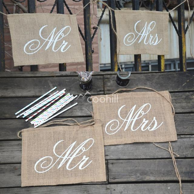 Mr And Mrs Chair Sign Vintage Wedding Signs Rustic Wedding Banners