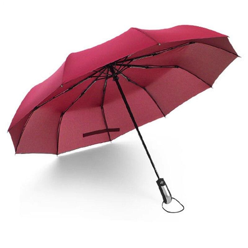 Top qualité Parapluie hommes pluie femme coupe-vent grand paraguay mâle femmes soleil 3 Floding grand Parapluie extérieur Parapluie