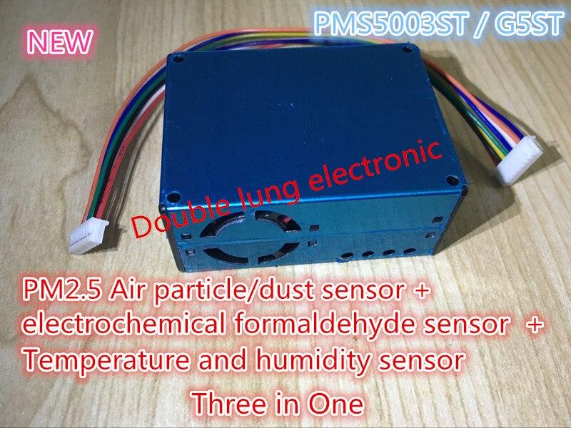 PMS5003ST G5ST Module de capteur PM2.5 formaldéhyde capteur de température et d'humidité laser Module numérique bricolage électronique + câble