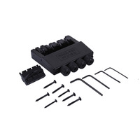 4 String Headless Electric Bass Guitar Bridge Guitar Part Black Alloy Guitar Bridge Musical Instruments Accessories