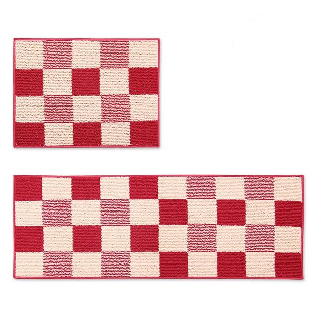 2 Stucke Set Rot Grun Blau Braun Gitter Leiter Kreuz Streifen Kuche