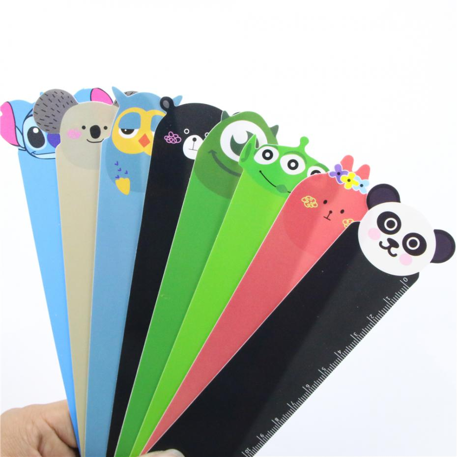 1 Pcs Kawaii Cartoon Animal Series Plastic Bendable Ruler Measuring Straight Ruler Tool Gift Stationery Random